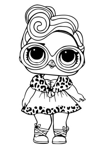 Lol Surprise Dollface Coloring Page Free Printable Coloring Pages