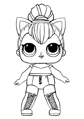 Cute Hello Kitty Face Wallpaper Lol Doll Kitty Queen Coloring Page Free Printable