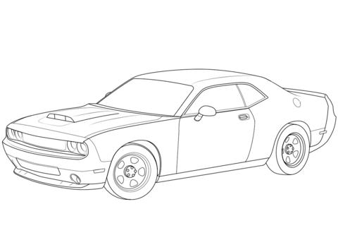 Dodge Challenger Srt8 392 Sketch Coloring Page