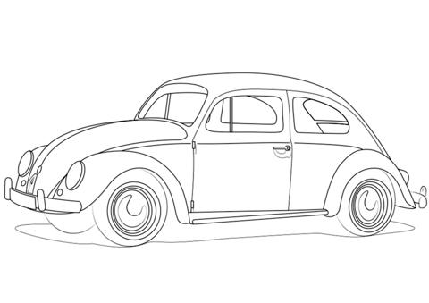 Kleurplaat Volkswagen • Kidkleurplaat.nl