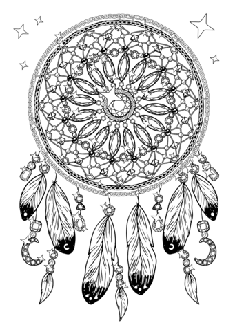 Dream Catcher Coloring Pages Free Printable Pictures