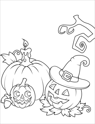 Jack O Lanterns Coloring Page Free Printable Coloring Pages