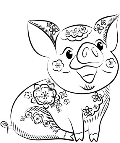 2019 Earth Pig Coloring Page Free Printable Coloring Pages