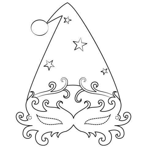 Dibujo de Máscara veneciana de navidad para colorear