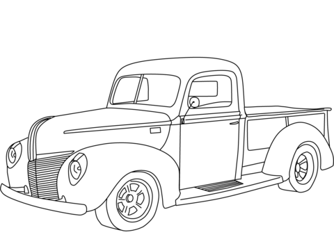 Ford F350 Coloring Pages