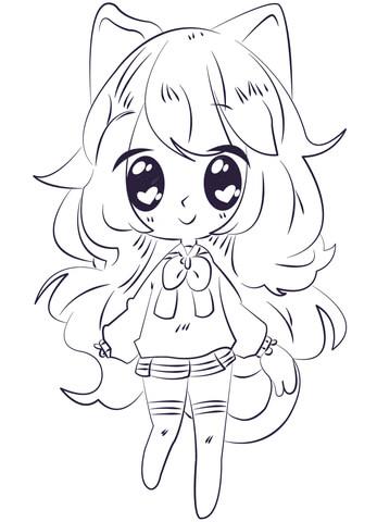 Dibujos De Ninos Dibujos Anime Kawaii Sin Color