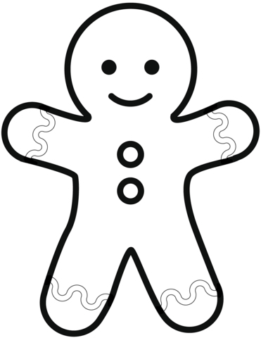 Simple Gingerbread Man Coloring Page Free Printable Coloring Pages