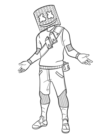 Marshmello Fortnite Coloring Page Free Printable Coloring Pages