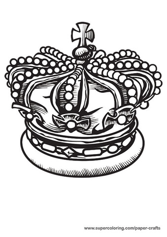 King Crown Printable Template Free Printable Papercraft