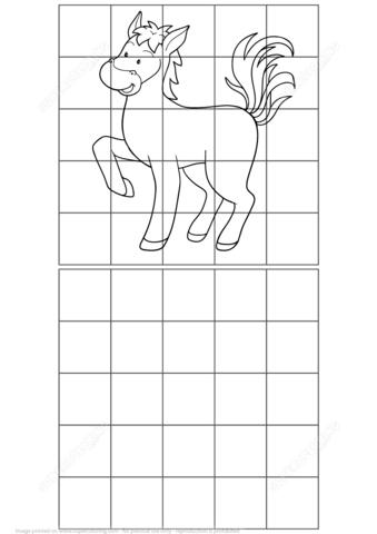 Horse Grid Puzzle