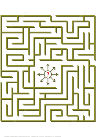 Try To Get Out Of The Labyrinth Puzzle Free Printable