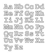 Upper Case Letters, Lower Case Letters, Numbers