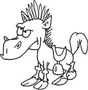 Cartoon horses