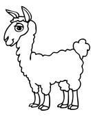 Ausmalbilder Alpaka - Malvorlagen Kostenlos zum Ausdrucken