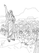 The People Gathered in Opposition to Moses and Aaron