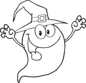 Ghost Coloring Pages Free Coloring Pages