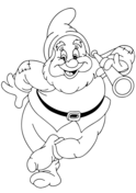 Snow White And Dwarf Are Dancing Together coloring page