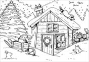 Malvorlagen Winterlandschaft