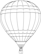 Heißluftballon Zum Ausmalen - Vorlagen zum Ausmalen gratis