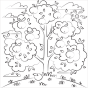 Apple Tree Coloring Pages Free Coloring Pages
