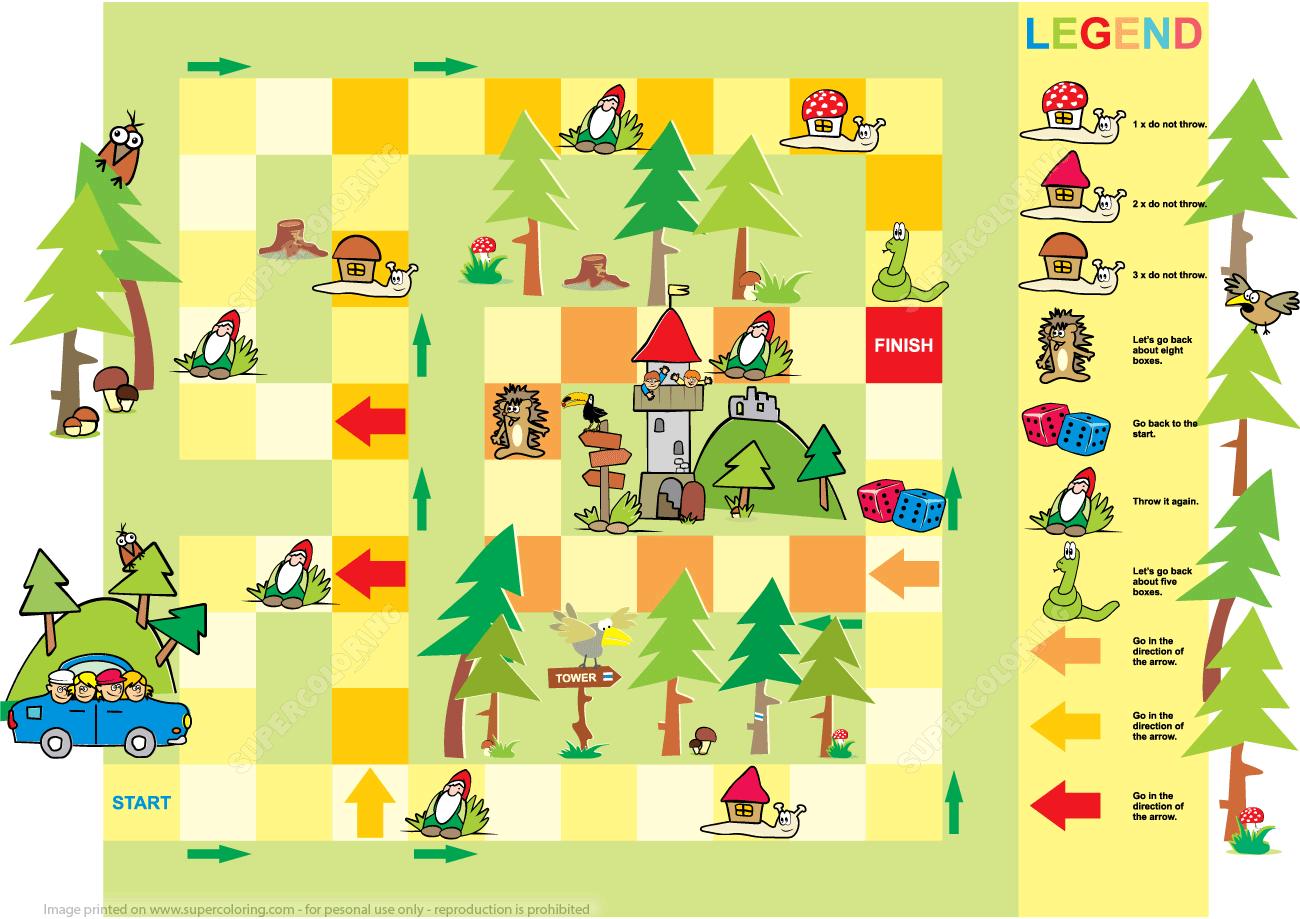 Adventure Board Game Printable Template