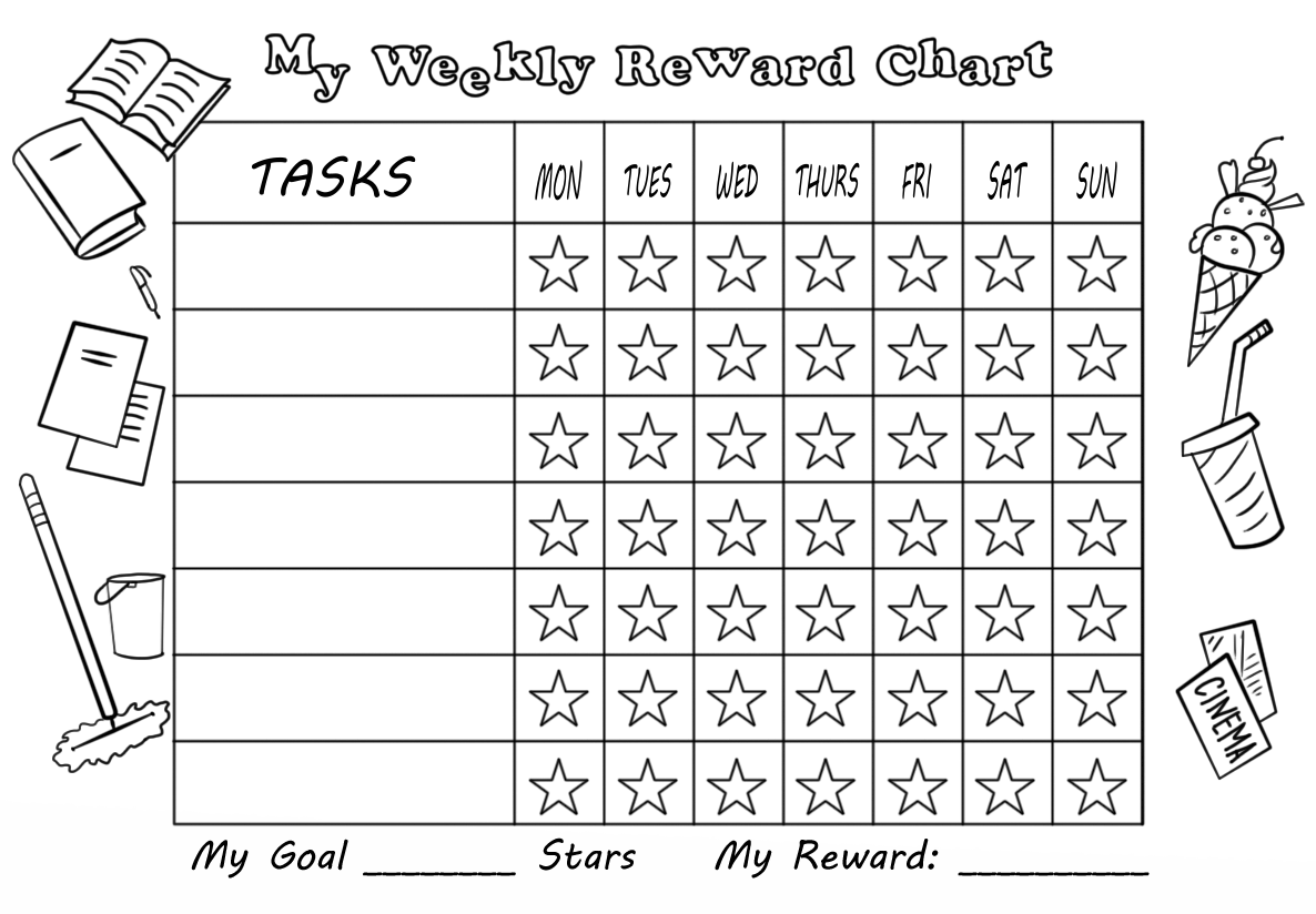 My Weekly Reward Chart With Stars