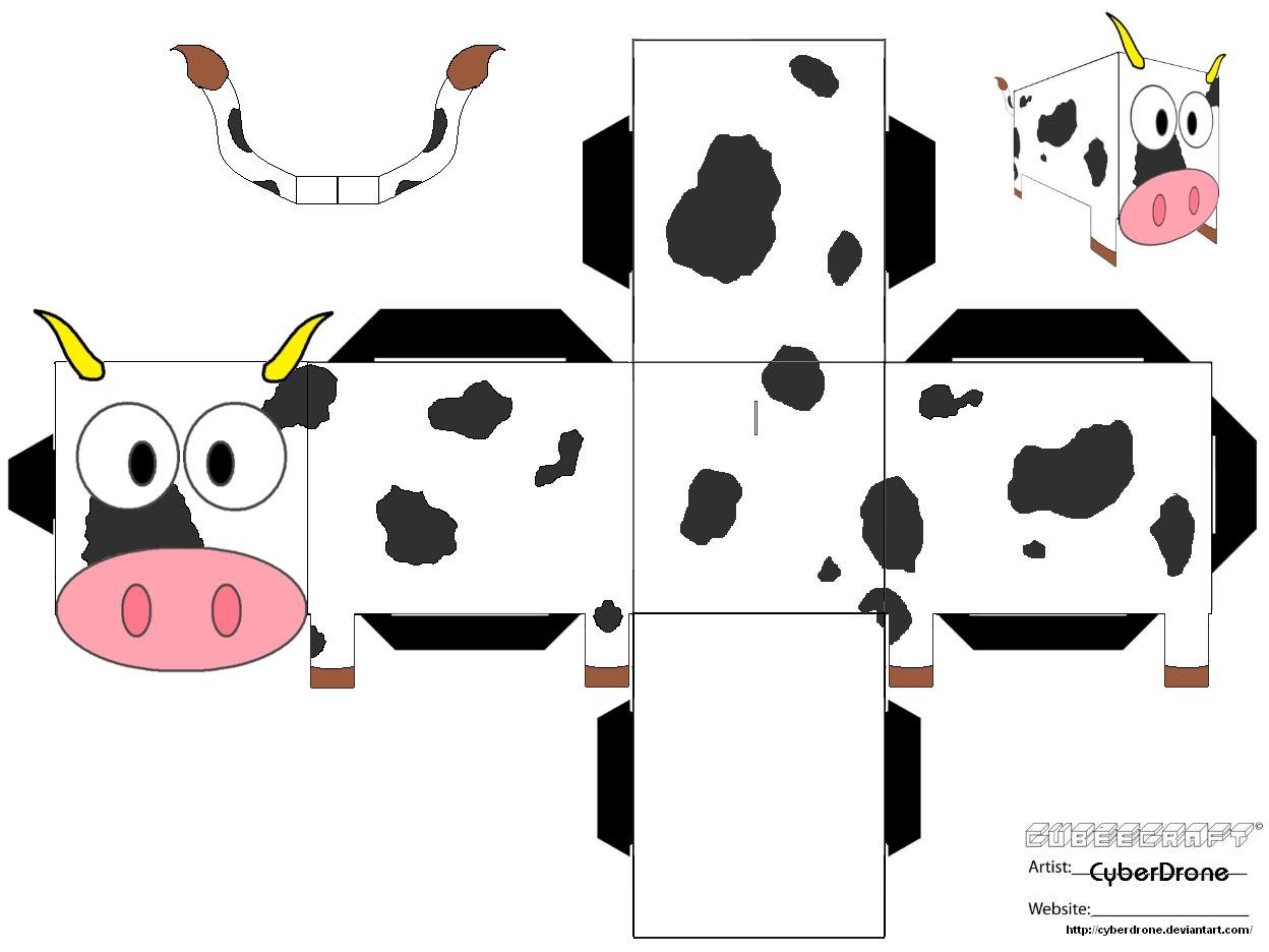 Cow Paper Toy