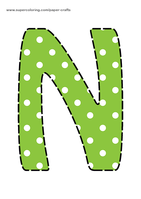 Letter N Flashcard  Free Printable Papercraft Templates
