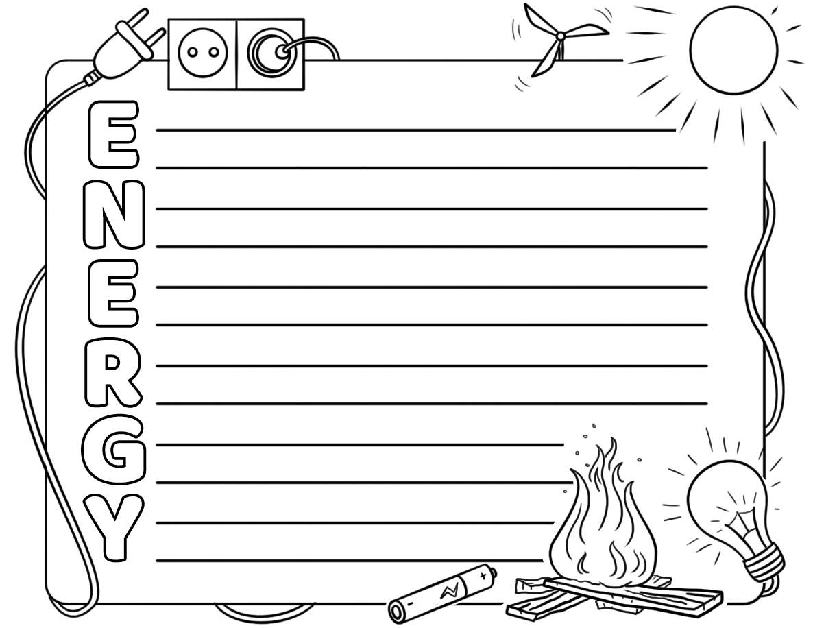 Energy Acrostic Poem Template