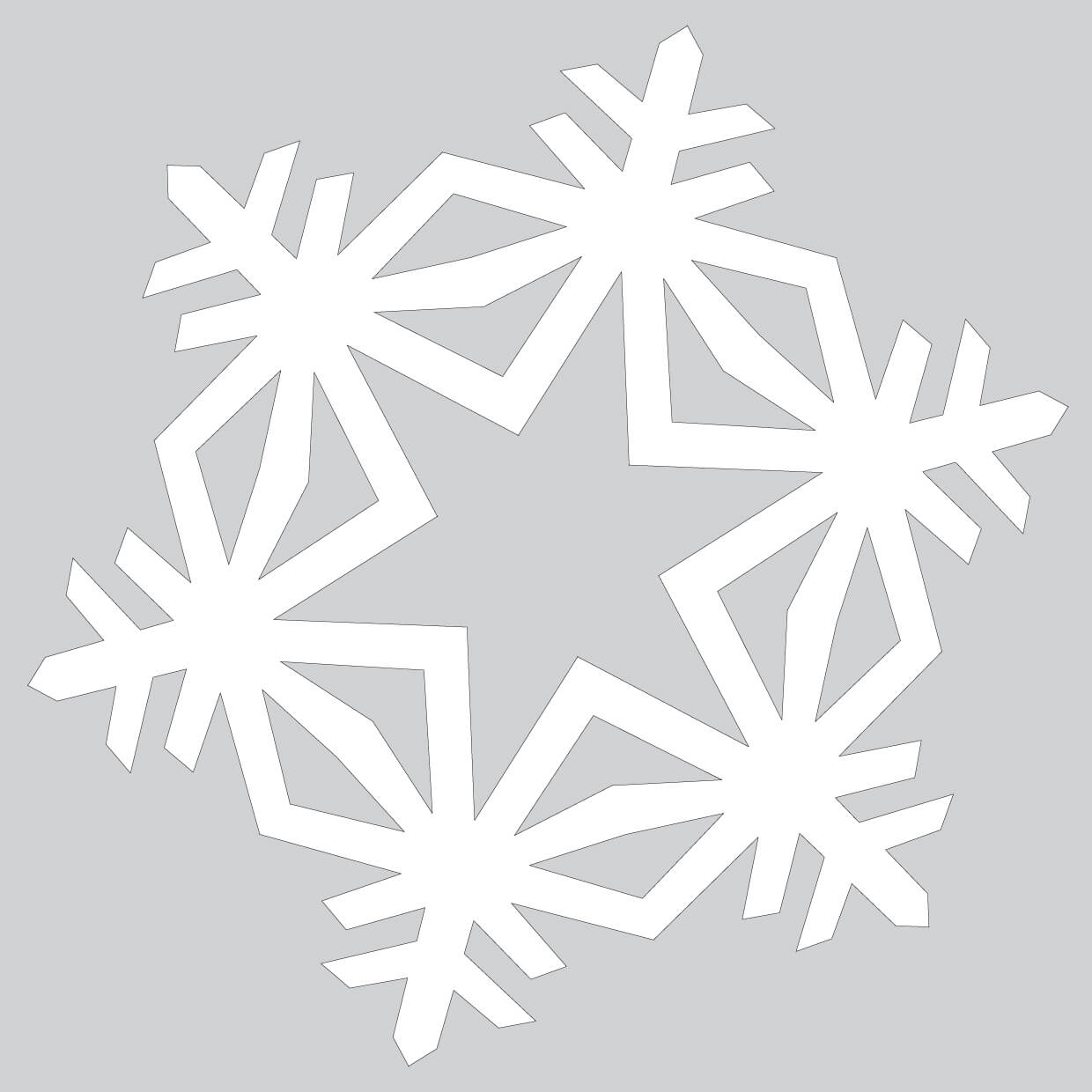 How To Make Simple Crystal Paper Snowflake