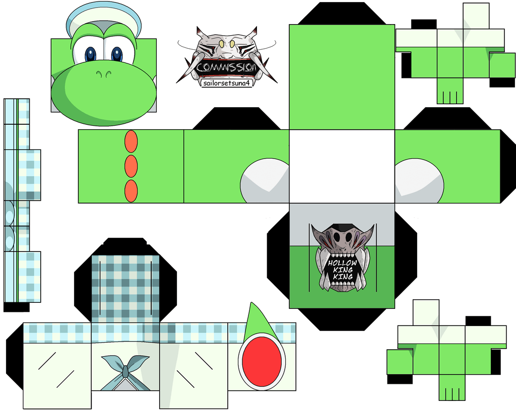 Yoshi 3ds Commercal Paper Toy Free Printable Papercraft Templates