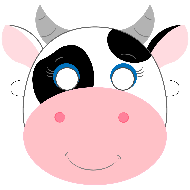 cow template printable