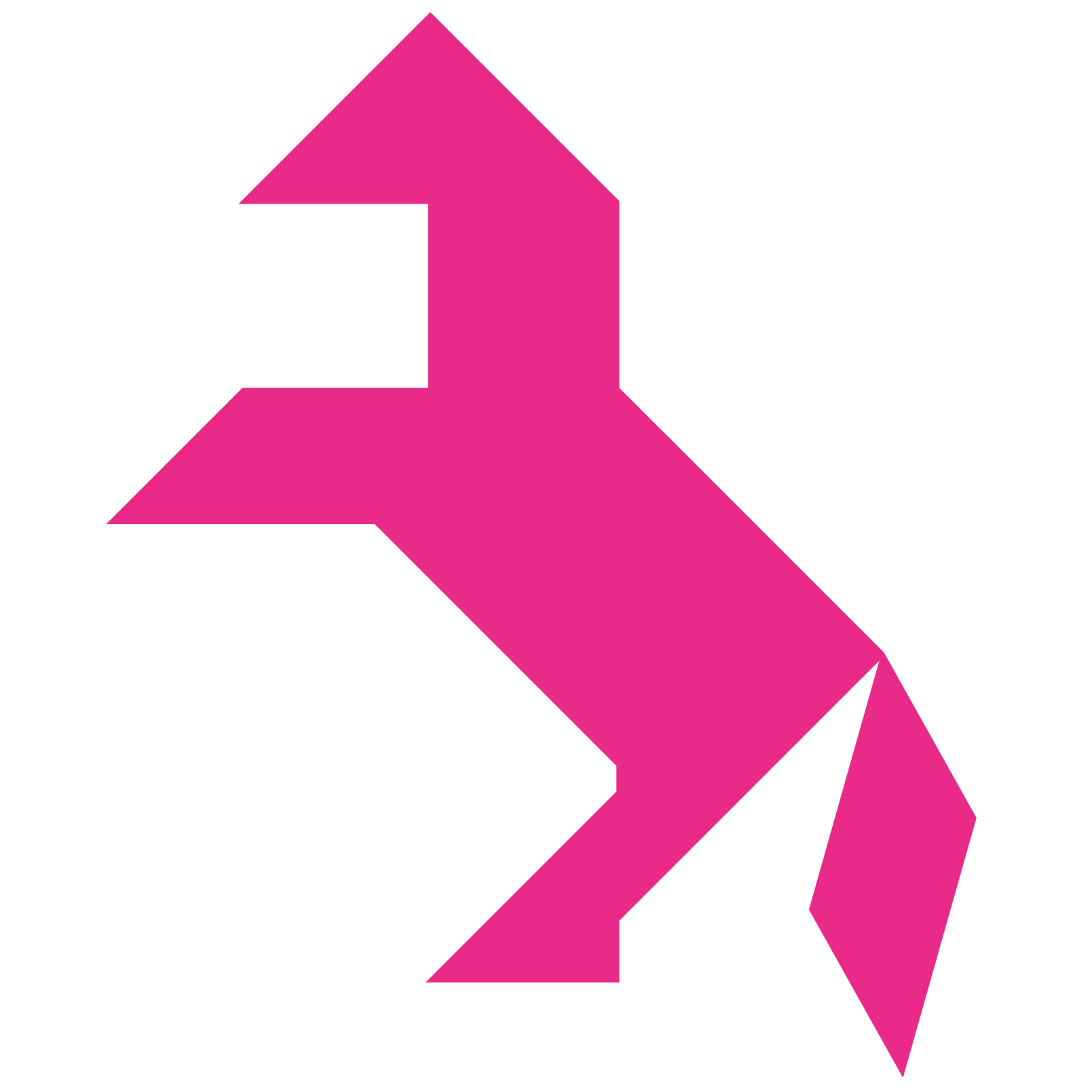 Tangram Horse Shape And Solution