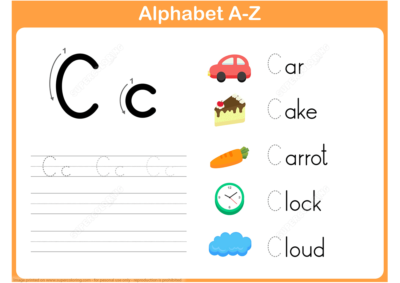 Letter C Tracing Worksheet