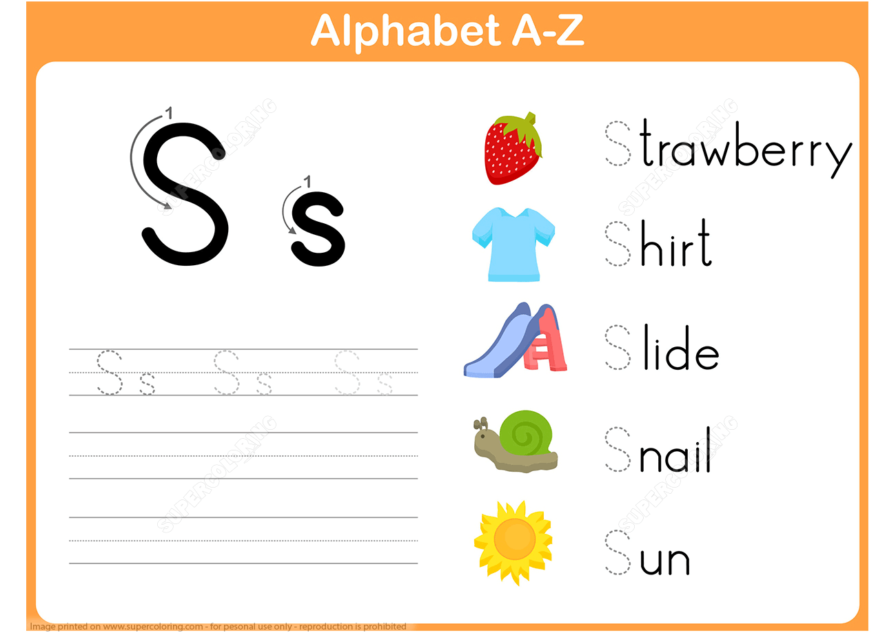 Letter S Tracing Worksheet