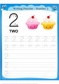 Number 2 Handwriting Practice Worksheet | Free Printable ...
