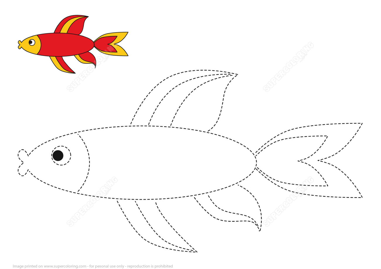 Trace And Color Red Fish