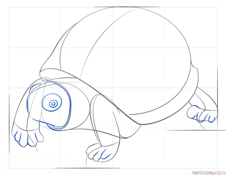 Draw Nile Crocodile Sketch Coloring Page