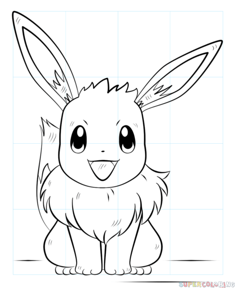 how to draw eevee the pokemon  stepstep drawing tutorials