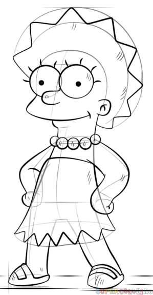 Drawing Girl Character Cartoon Easy