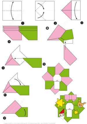 Origami Christmas Wreath Tutorial | Free Printable Papercraft Templates