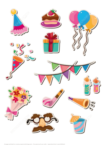 Printable Stickers For Happy Birthday Party Free