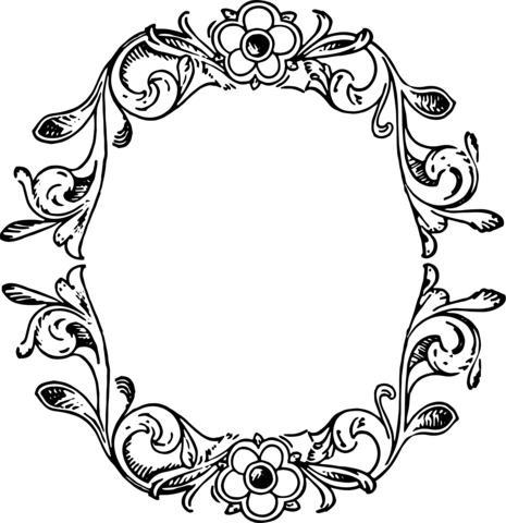 Floral Bookplate  Free Printable Papercraft Templates