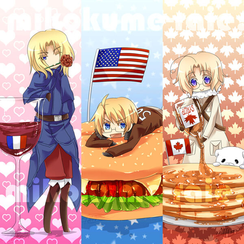 All Anime Characters Wallpaper Hetalia Bookmarks With France Usa And Canada Free
