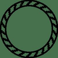 Decorative Circle Border | Free Printable Papercraft Templates