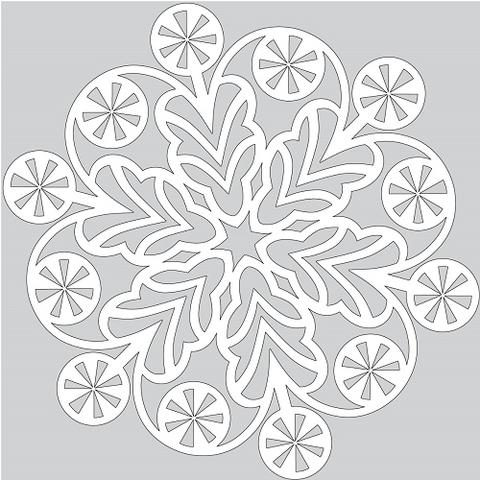 Modello Tutorial Per Creare Un Fiocco Di Neve Da Ritagliare