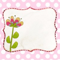 Scrapbook Paper Design with a Frame and Flower