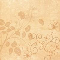 Vintage Floral Scrapbook Paper Design