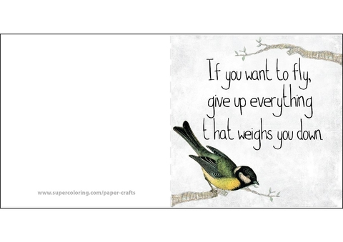 If You Want to Fly, Give up Everything That Weighs You