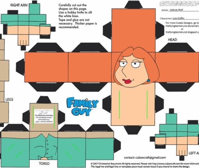 Click To See Printable Version Of Lois Griffin Paper Toy Paper Craft